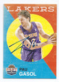 PAU GASOL LOS ANGELES LAKERS AUTOGRAPHED BASKETBALL CARD #72216F