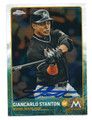GIANCARLO STANTON MIAMI MARLINS AUTOGRAPHED BASEBALL CARD #72316A