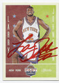 LARRY JOHNSON NEW YORK KNICKS AUTOGRAPHED BASKETBALL CARD #72316D