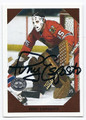 TONY ESPOSITO CHICAGO BLACKHAWKS AUTOGRAPHED HOCKEY CARD #72516A