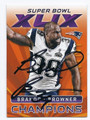 BRANDON BROWNER NEW ENGLAND PATRIOTS AUTOGRAPHED FOOTBALL CARD #72716F