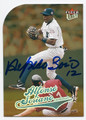 ALFONSO SORIANO NEW YORK YANKEES AUTOGRAPHED BASEBALL CARD #72816D