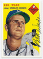 BEN WADE BROOKLYN DODGERS AUTOGRAPHED BASEBALL CARD #72916A