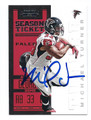 MICHAEL TURNER ATLANTA FALCONS AUTOGRAPHED FOOTBALL CARD #72916C