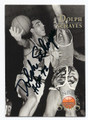 DOLPH SCHAYES SYRACUSE NATIONALS AUTOGRAPHED BASKETBALL CARD #72916E