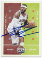 JOSH SMITH ATLANTA HAWKS AUTOGRAPHED BASKETBALL CARD #73016A