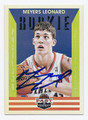 MEYERS LEONARD PORTLAND TRAILBLAZERS AUTOGRAPHED ROOKIE BASKETBALL CARD #73116C