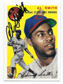 AL SMITH CLEVELAND INDIANS AUTOGRAPHED BASEBALL CARD #80116A