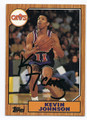 KEVIN JOHNSON CLEVELAND CAVALIERS AUTOGRAPHED BASKETBALL CARD #80116C