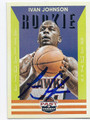 IVAN JOHNSON ATLANTA HAWKS AUTOGRAPHED ROOKIE BASKETBALL CARD #80116F