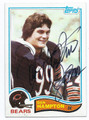 DAN HAMPTON CHICAGO BEARS AUTOGRAPHED FOOTBALL CARD #80216A