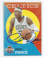 PAUL PIERCE BOSTON CELTICS AUTOGRAPHED BASKETBALL CARD #80216C
