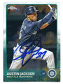 AUSTIN JACKSON SEATTLE MARINERS AUTOGRAPHED BASEBALL CARD #80216D