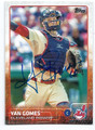 YAN GOMES CLEVELAND INDIANS AUTOGRAPHED BASEBALL CARD 80316A