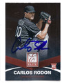CARLOS RODON CHICAGO CUBS AUTOGRAPHED ROOKIE BASEBALL CARD #80316C