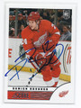 DAMIEN BRUNNER DETROIT RED WINGS AUTOGRAPHED ROOKIE HOCKEY CARD #80416F
