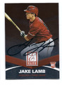 JAKE LAMB ARIZONA DIAMONDBACKS AUTOGRAPHED ROOKIE BASEBALL CARD #80516C