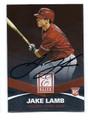 JAKE LAMB ARIZONA DIAMONDBACKS AUTOGRAPHED ROOKIE BASEBALL CARD #80516C