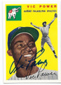 VIC POWER PHILADELPHIA ATHLETICS AUTOGRAPHED BASEBALL CARD #80516D