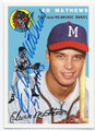 ED MATHEWS MILWAUKEE BRAVES AUTOGRAPHED BASEBALL CARD #80616B