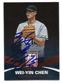 WEI-YIN CHEN BALTIMORE ORIOLES AUTOGRAPHED BASEBALL CARD #80716C