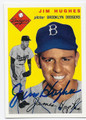 JIM HUGHES BROOKLYN DODGERS AUTOGRAPHED BASEBALL CARD #80716E