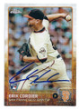 ERIK CORDIER SAN FRANCISCO GIANTS AUTOGRAPHED ROOKIE BASEBALL CARD #80816C