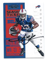 STEVE JOHNSON BUFFALO BILLS AUTOGRAPHED FOOTBALL CARD #80816D