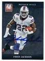 FRED JACKSON BUFFALO BILLS AUTOGRAPHED FOOTBALL CARD #80916E