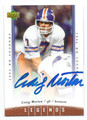 CRAIG MORTON AUTOGRAPHED DENVER BRONCOS FOOTBALL CARD #81016D
