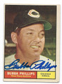 BUBBA PHILLIPS CLEVELAND INDIANS AUTOGRAPHED VINTAGE BASEBALL CARD #81216E