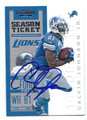 CALVIN JOHNSON JR DETROIT LIONS AUTOGRAPHED FOOTBALL CARD #81316C