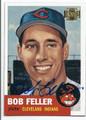 BOB FELLER CLEVELAND INDIANS AUTOGRAPHED BASEBALL CARD #81316D