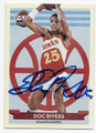 DOC RIVERS ATLANTA HAWKS AUTOGRAPHED BASKETBALL CARD #81316E