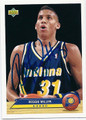 REGGIE MILLER INDIANA PACERS AUTOGRAPHED BASKETBALL CARD #81516D