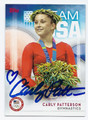 CARLY PATTERSON AUTOGRAPHED OLYMPIC GYMNASTICS CARD #81616D