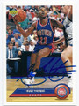 ISIAH THOMAS DETROIT PISTONS AUTOGRAPHED BASKETBALL CARD #81716F