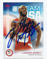 LaSHAWN MERRITT AUTOGRAPHED OLYMPIC TRACK & FIELD CARD #81816A