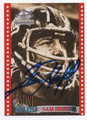 SAM HUFF NEW YORK GIANTS AUTOGRAPHED FOOTBALL CARD #82116B