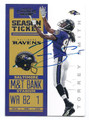 TORREY SMITH BALTIMORE RAVENS AUTOGRAPHED FOOTBALL CARD #82116F