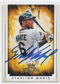 STARLING MARTE PITTSBURGH PIRATES AUTOGRAPHED BASEBALL CARD #82416A
