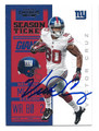 VICTOR CRUZ NEW YORK GIANTS AUTOGRAPHED FOOTBALL CARD #82516B