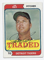 JIM RAY DETROIT TIGERS AUTOGRAPHED VINTAGE BASEBALL CARD #82716B
