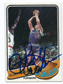 SCOTT WEDMAN KANSAS CITY KINGS AUTOGRAPHED VINTAGE BASKETBALL CARD #82716D