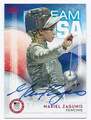 MARIEL ZAGUNIS OLYMPIC FENCING AUTOGRAPHED CARD #82716F