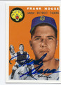 FRANK HOUSE DETROIT TIGERS AUTOGRAPHED BASEBALL CARD #83116D