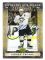 SIDNEY CROSBY PITTSBURGH PENGUINS AUTOGRAPHED HOCKEY CARD #90116A