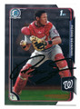 PEDRO SEVERINO WASHINGTON NATIONALS AUTOGRAPHED ROOKIE BASEBALL CARD #90116C