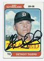 GARY SUTHERLAND DETROIT TIGERS AUTOGRAPHED VINTAGE BASEBALL CARD #90116E