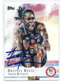 BRITNEY REESE US OLYMPIC TRACK & FIELD TEAM AUTOGRAPHED CARD #90216C